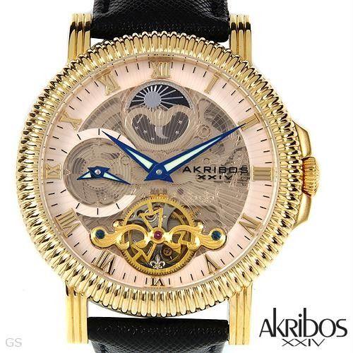 Luxstyle4u - AKRIBOS XXIV AK452YG Brand New Gentlemens Moon dial Automatic Watch, $189.00 (http://www.luxstyle4u.com/akribos-xxiv-ak452yg-brand-new-gentlemens-moon-dial-automatic-watch/)