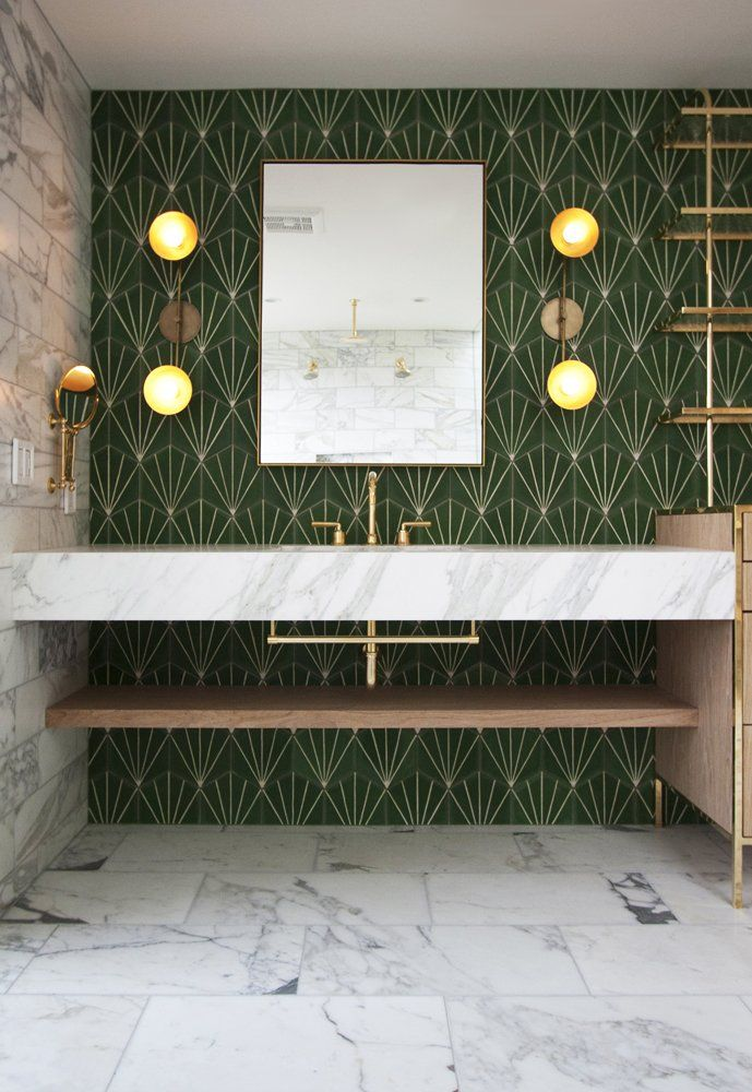 Je veux : une salle de bain art déco ! | Home decor | Pinterest ...