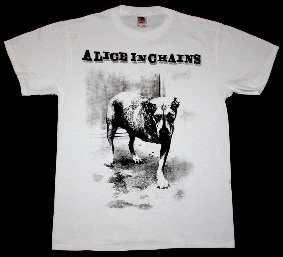 Black dog t shirt ebay - Alice In Chains Dog Grunge Seattle Pearl Jam Soundgarden Hole New White T Shirt In