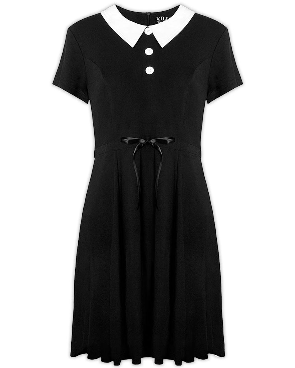 2cf9a6e258 Killstar Doll Dress Dress Black White Collar Goth Witch Wednesday Addams