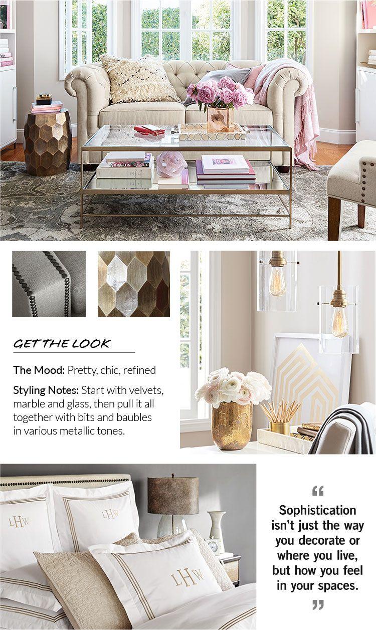 Style Finder Quiz Pottery Barn Urban Chic Decor Pinterest Living Room Fashion Room