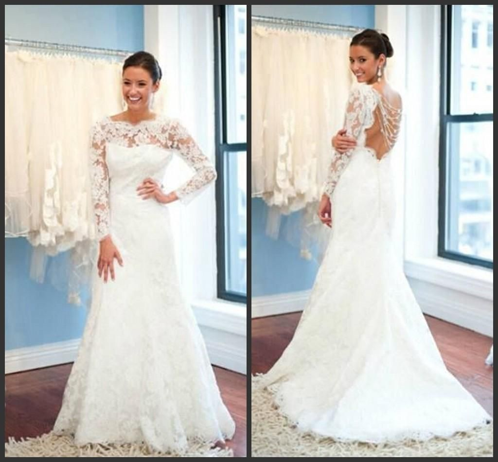 Wholesale aline wedding dresses buy new chic high neck long