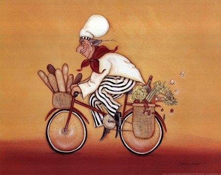 Biking Chef Wall Art Poster On Wall Art To Inspire Art Prints Art Fine Art Prints