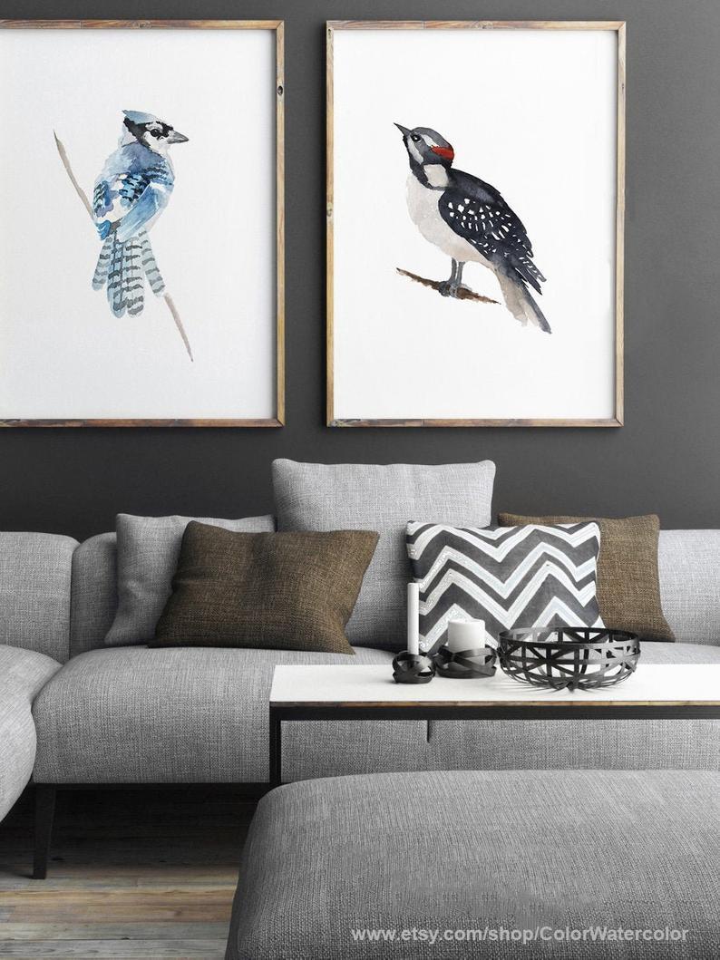Set of 2 prints Woodpecker