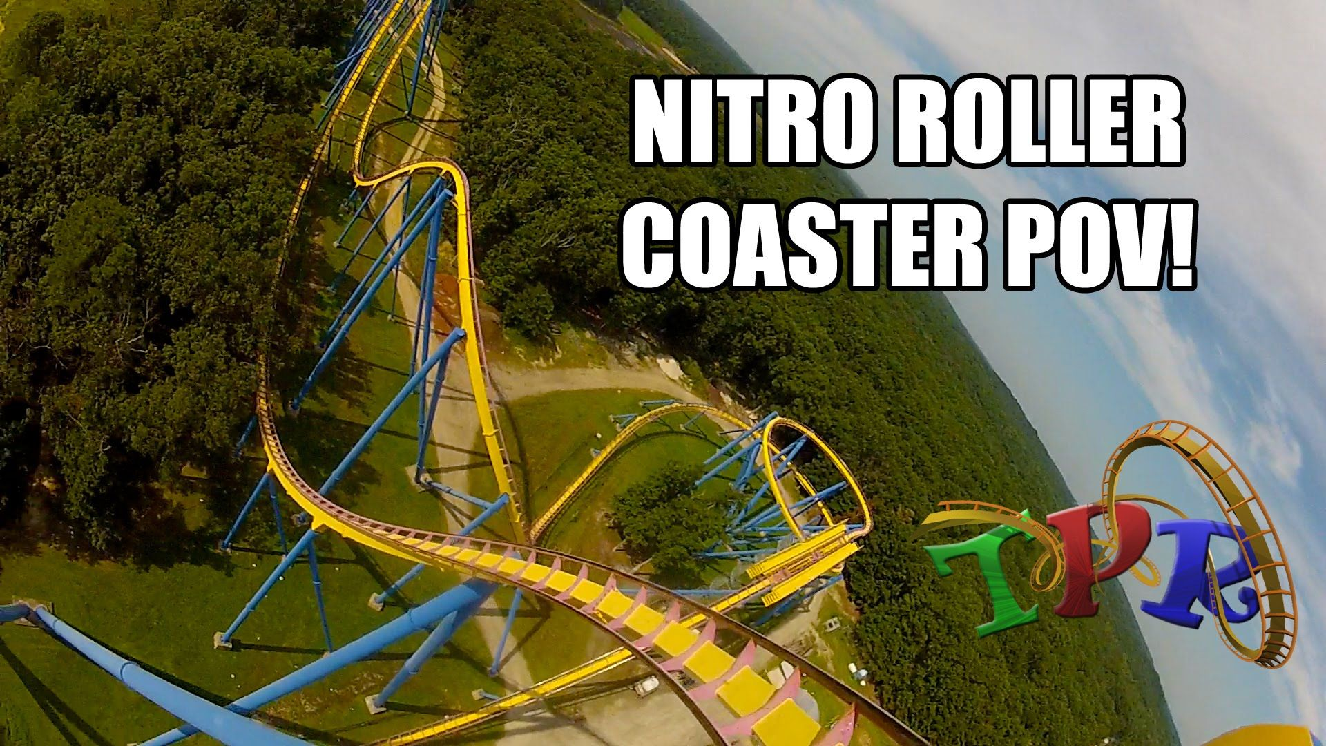 Nitro Roller Coaster POV Six Flags Great Adventure Front