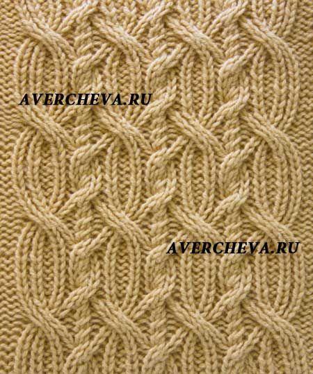 Узор спицами 941 « Косы на основе резинки 3»   Knitting stitch ...