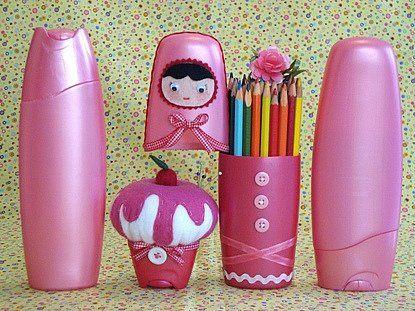 Diy Shampoo Bottle Pencil Holder And Shampoo Bottle