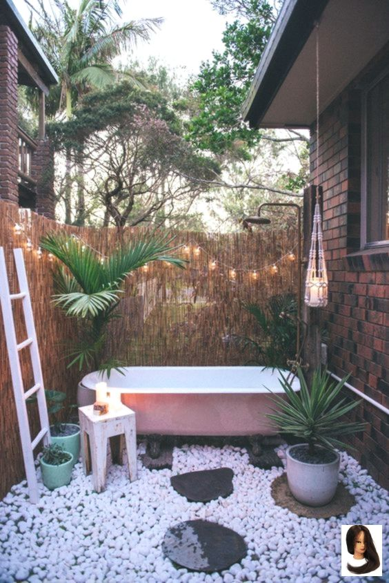 Inspiring Hot Tub Privacy For Extra Comfort En 2020 Baignoire