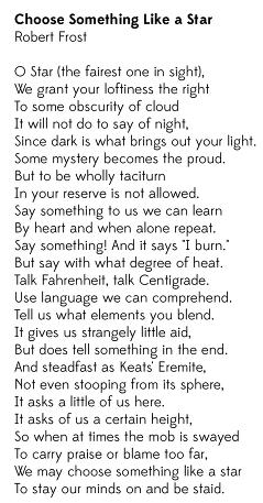 choose something like a star poem