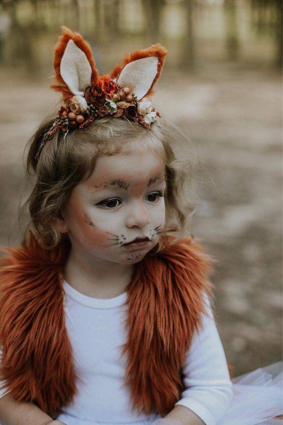 Fox headband- fox ears-fox costume add on- fox #déguisementsdhalloweenfaitsmain