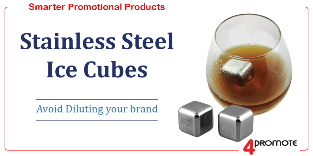 Avoid Diluting your brand with these Stainless Steel Ice Cubes #ChristmasGifts #CorporateEvents #Drinkware #BrandedDrinkware