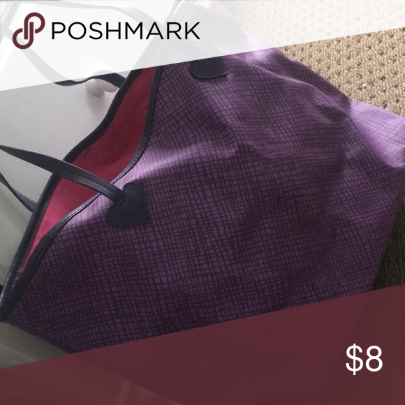 """47825ff338 Exclusive Vera Wang Princess Tote Bag! Purple tote with two shoulder  straps. Pink inner lining with """"Princess Vera Wang"""" writing. Vera Wang Bags  Totes"""