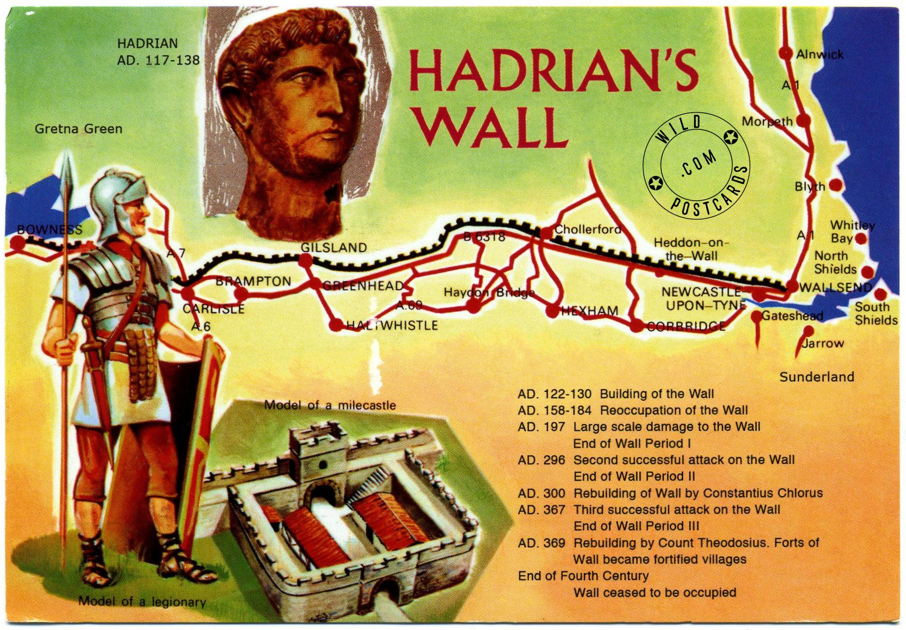 hadrians wall begun in ad 122 during the rule of emperor on hadrians wall id=55914