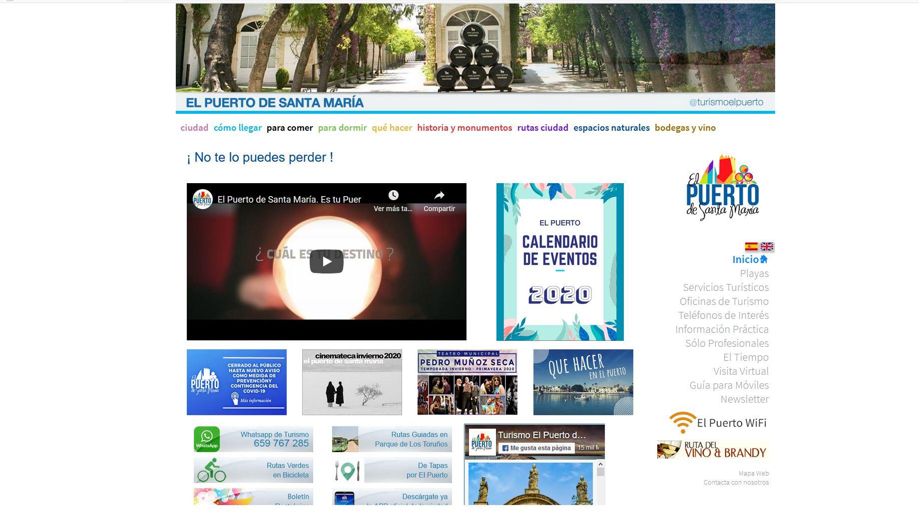 pagina oficial de turismo de El Puerto de Santa María