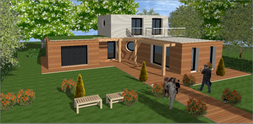 maison moderne toit plat toit terrasse cubiques cubes carrees maisons qualitis construction de. Black Bedroom Furniture Sets. Home Design Ideas
