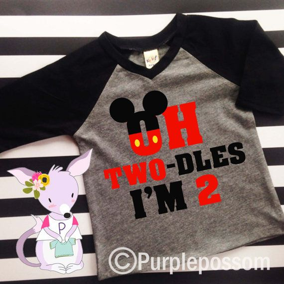 42be1e41f 2nd Birthday two-dles Shirt Oh twodles birthday by PurplePossom ...