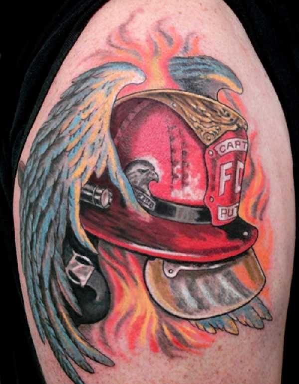 17 grandiose firefighter tattoos pinterest firefighter tattoos rh pinterest ie firefighter helmet tattoos designs Firefighter Tattoo Drawings