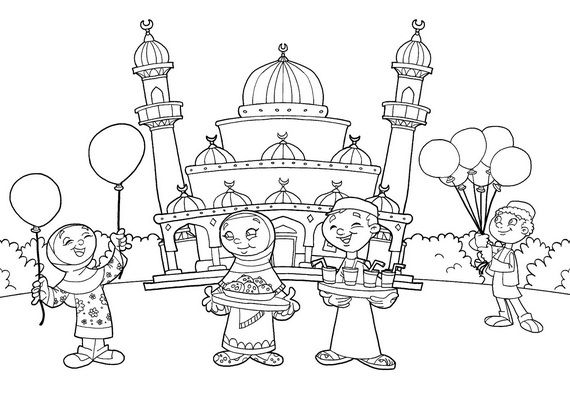 muslim holidays coloring pages - photo#8