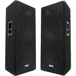 """One of our top selling Dual PA Speakers!  Awesome all-around cabs.  Great Bass, miss, and highs in one cabinet.  Add an 18"""" subwoofer to these and they really hit!"""