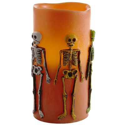Skeleton LED candle - SQUEEEE!
