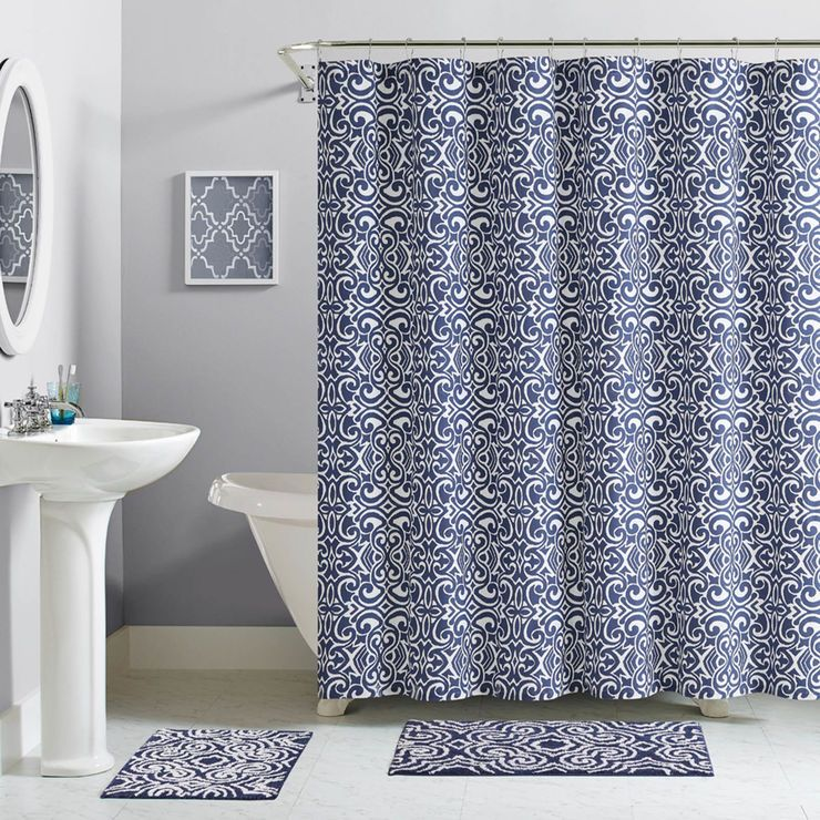 Es 13pc Cttn Navy Sc Set Bathroom Pinterest Zebra