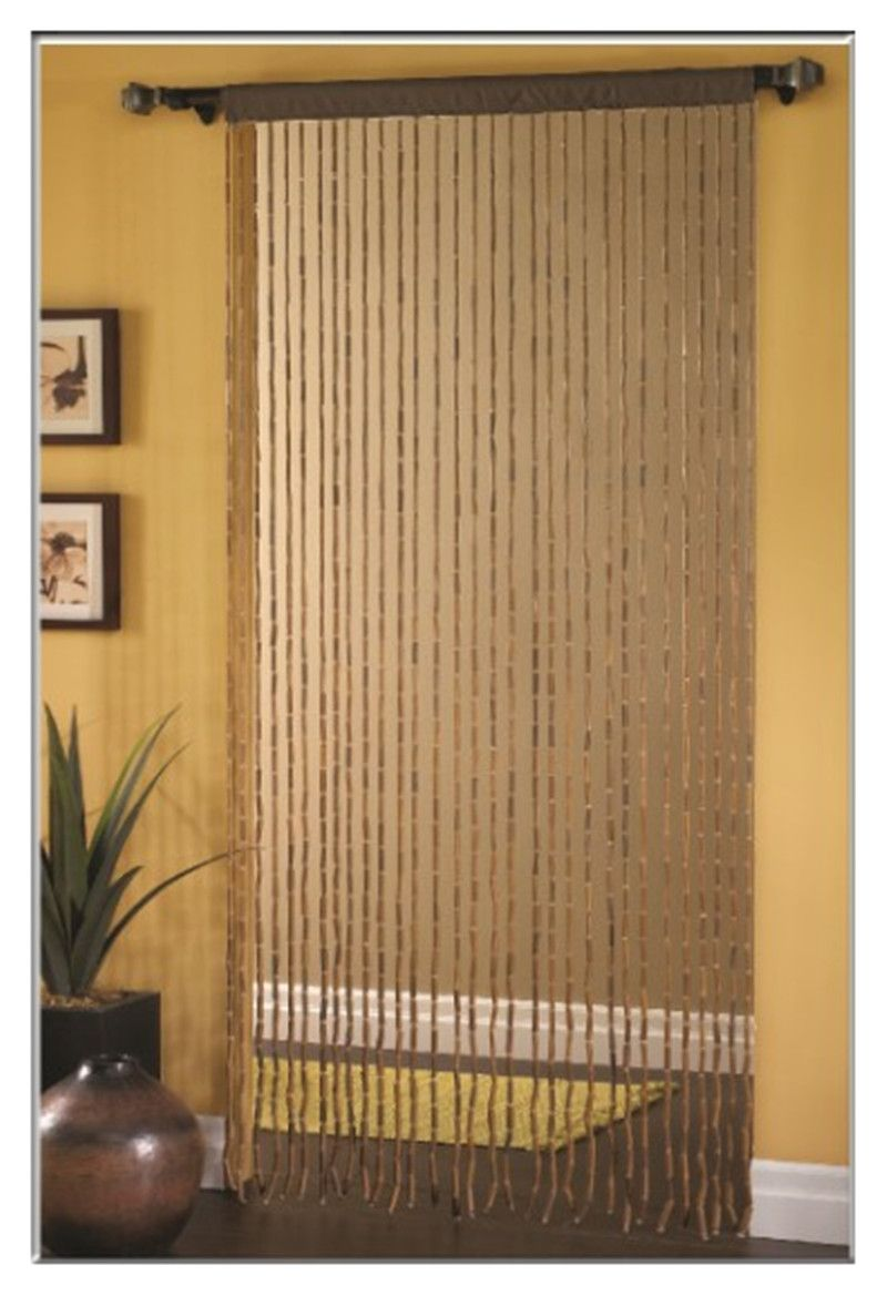 Chinese Fashion Bead Door Curtain Bamboo Wooden Bead Door Screen