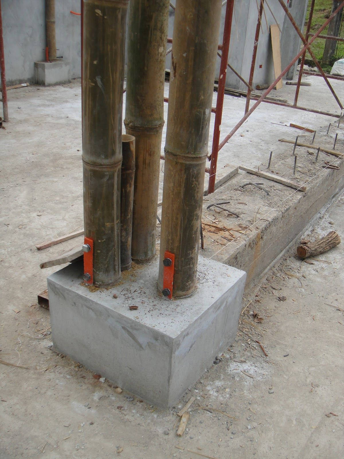 Bamboo structure the bamboo structure is suited - Concrete Beams Can Use Bamboo Reinforced Simple Efficient And Cost Effective For Construction Bamboo Reinforced Concrete Beams With Shear Links Made Of