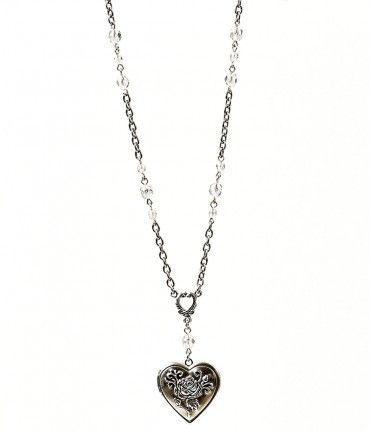 Radiantly romantic, this vintage inspired necklace.