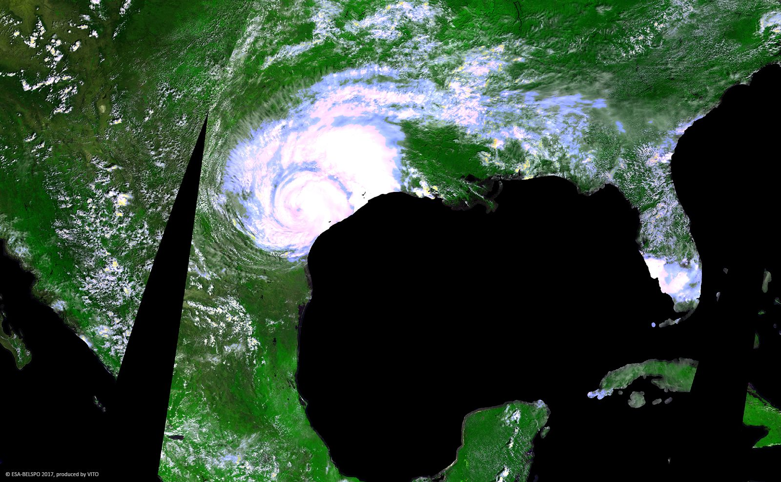 Probav Proba V S Special Image Hurricane Harvey Texas Usa Hurricane Harvey Is An Active Tropical Cyclone That Satellite Image One Hurricane Special Images