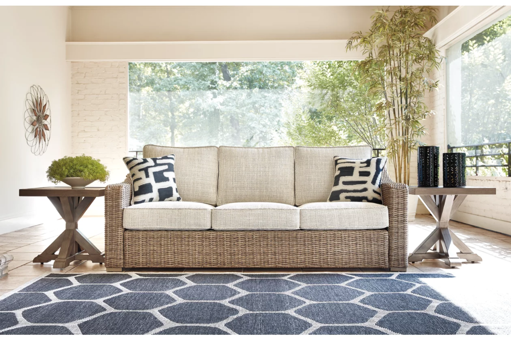 Beachcroft Sofa with Cushion   Ashley Furniture HomeStore ... on Beachcroft Beige Outdoor Living Room Set id=90386