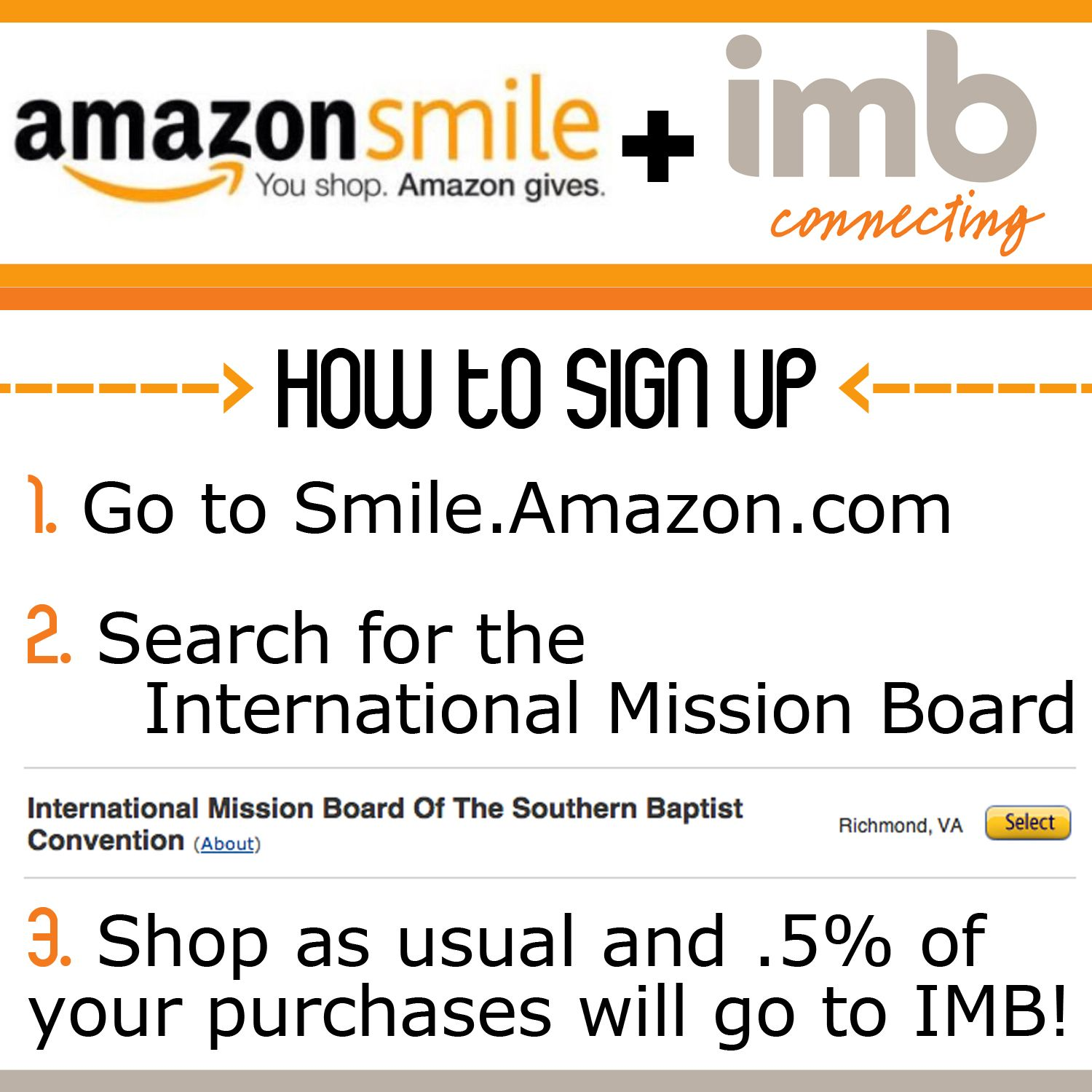 Sign Up For Amazonsmile And Give A Percentage Of Your Purchases To