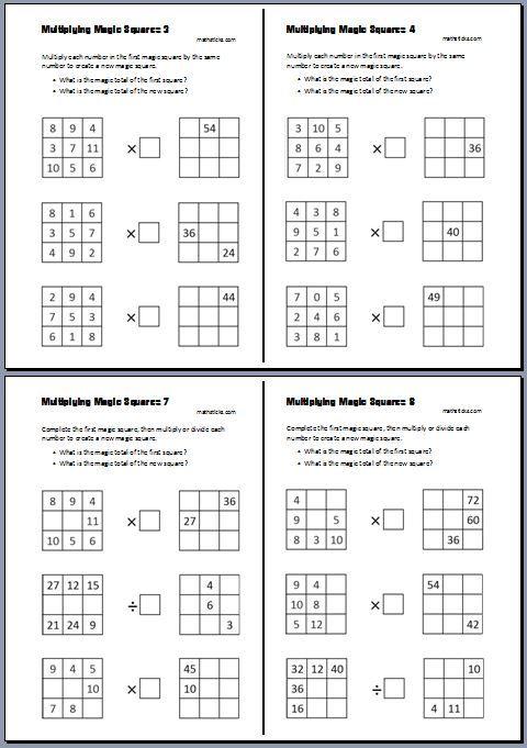 Multiplying Magic Squares Teaching Resource Kiedy To Zrobimy