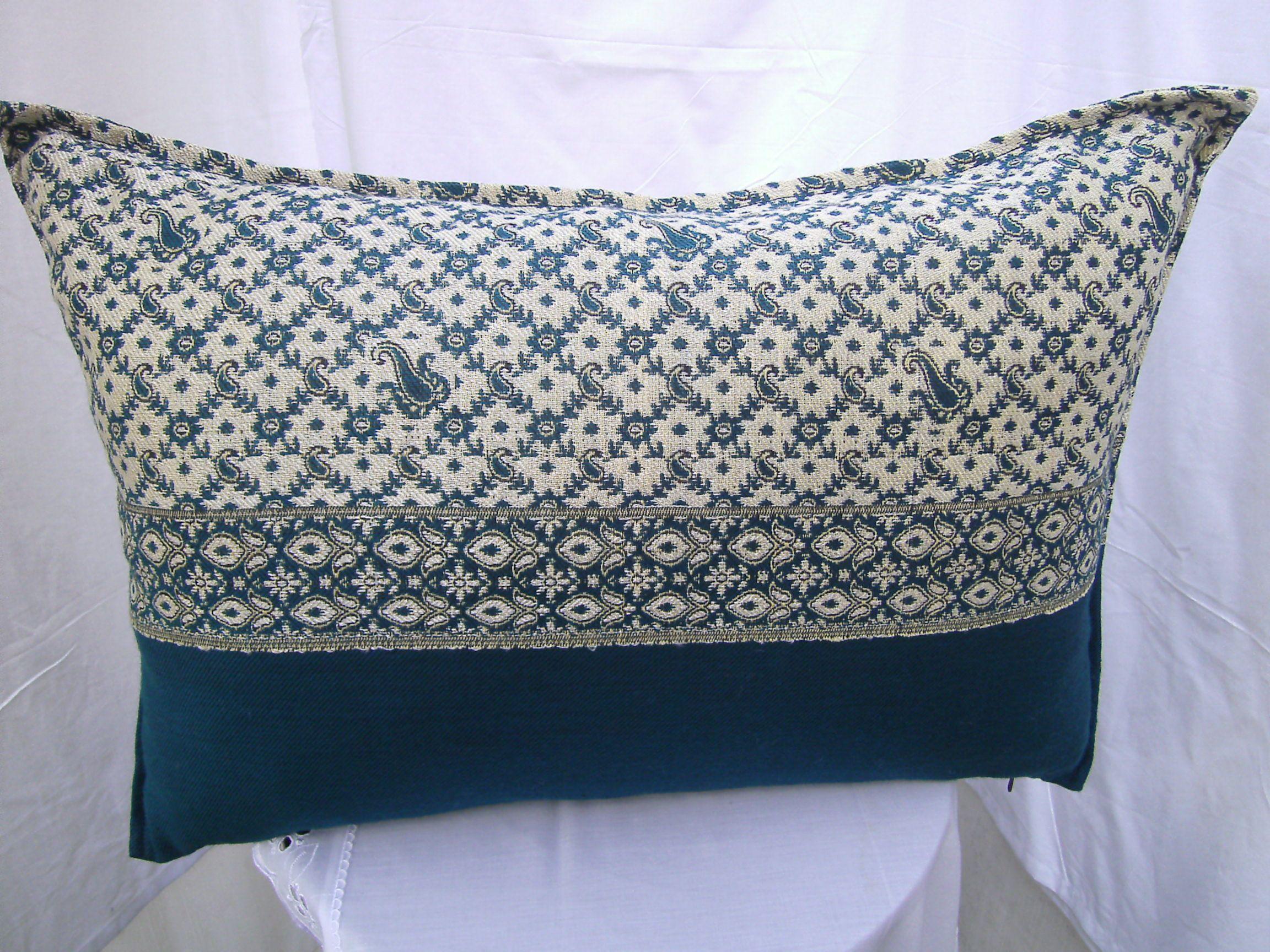 Pillow Beige Green Pillow Fabric Yemen Sofa Pillow Geometric
