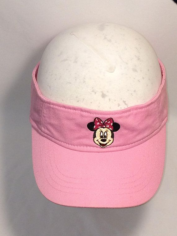 Vintage Minnie Mouse Sun Visor Hat Pink Visors For Women Adult Girls Mickey  Mouse Disney Vacation Go f51e45a7dcb