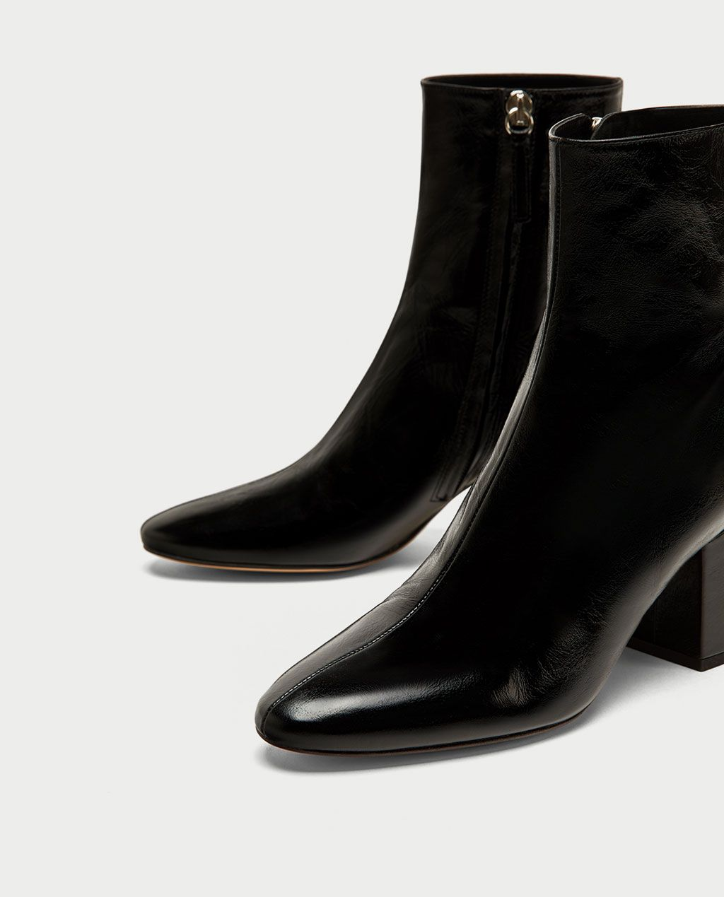 cheap for sale enjoy clearance price high quality guarantee LEATHER HIGH HEEL ANKLE BOOTS-NEW IN-WOMAN | ZARA Ireland ...