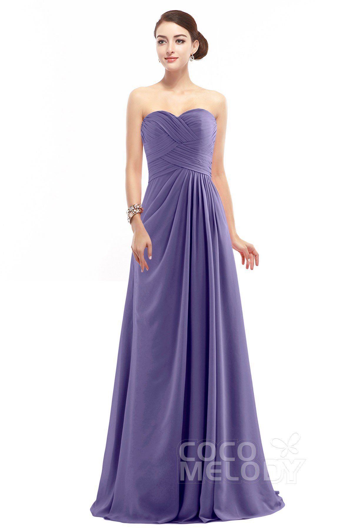 Delicate Sheath-Column Sweetheart Floor Length Chiffon Sleeveless ...