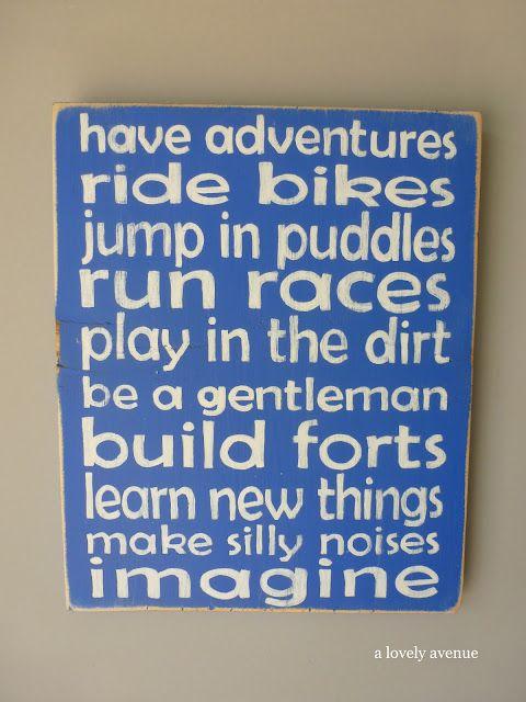 Sign for little boys room