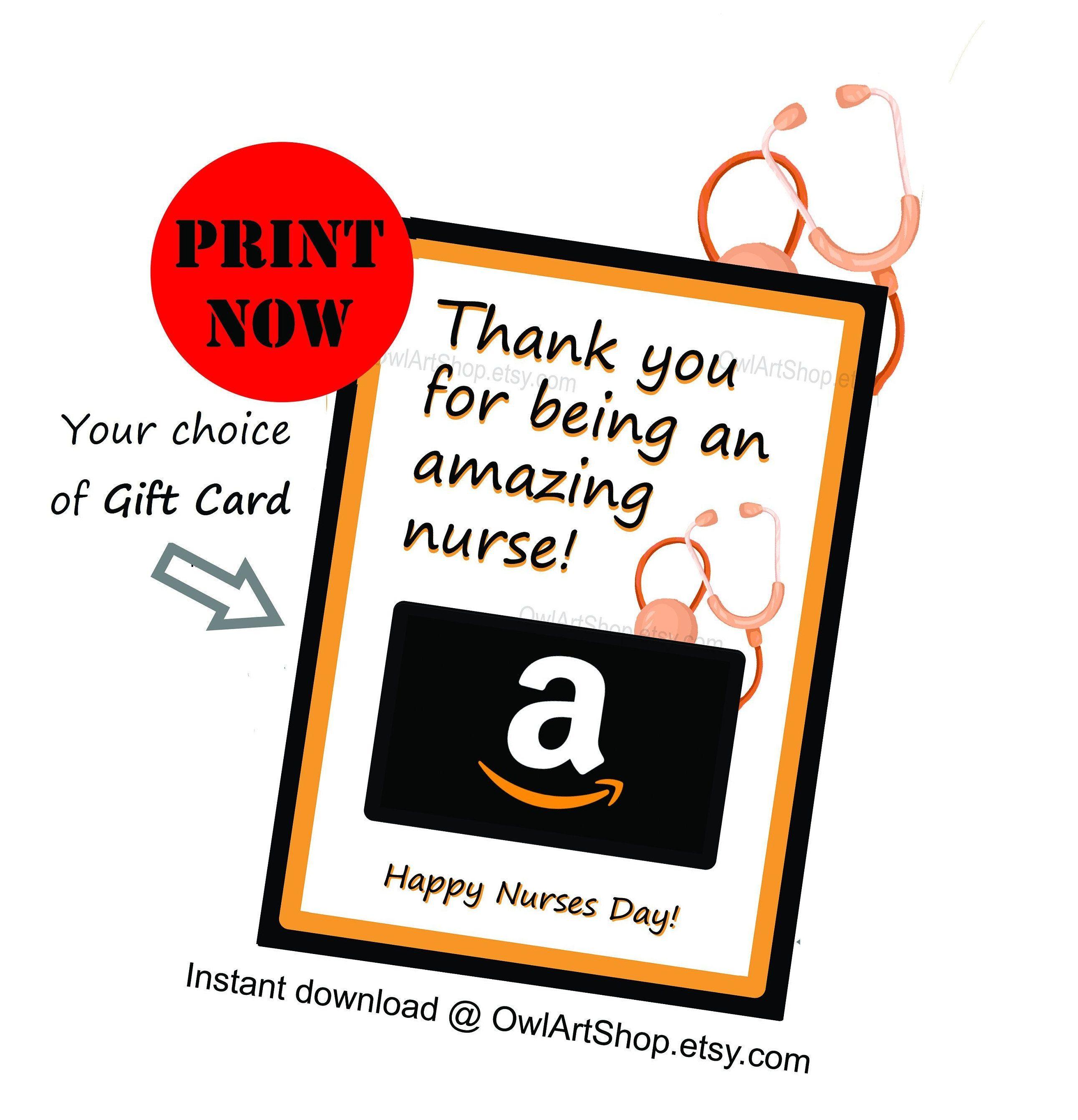 Nurses Day Gift Card Holder Nurses Appreciation Amazon Gift Card Holder Card For Nurse Diy Printable Instant D Gift Card Holder Gift Card Amazon Gift Cards