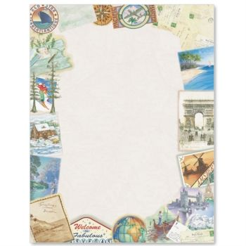 Stationery Border Papers Borders For Paper Tissue Paper Flowers Travel Stationery