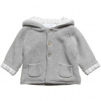 e2a6f6ccf Tartine et Chocolat Grey Knitted Cotton Pram Coat at Childrensalon ...
