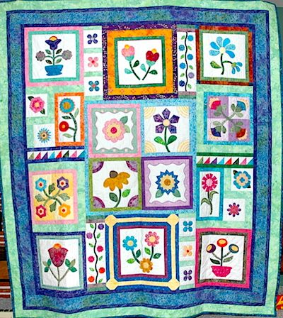 Stitcher's Garden Quilt Top | Quilty Things I Have Made ... : garden quilts - Adamdwight.com