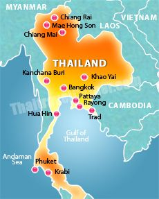 where is Thailand Travel the World Pinterest