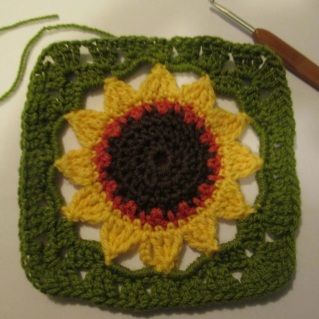 Ravelry: Sunflower Crochet Square pattern by Nandina of Ambient ...