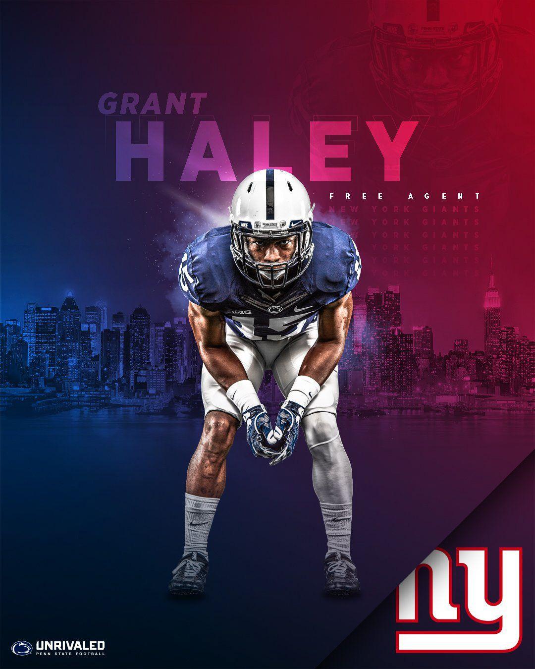 Penn State Football 2018 Nfl Draft On Behance In 2020 Penn State Football Penn State New York Giants Football