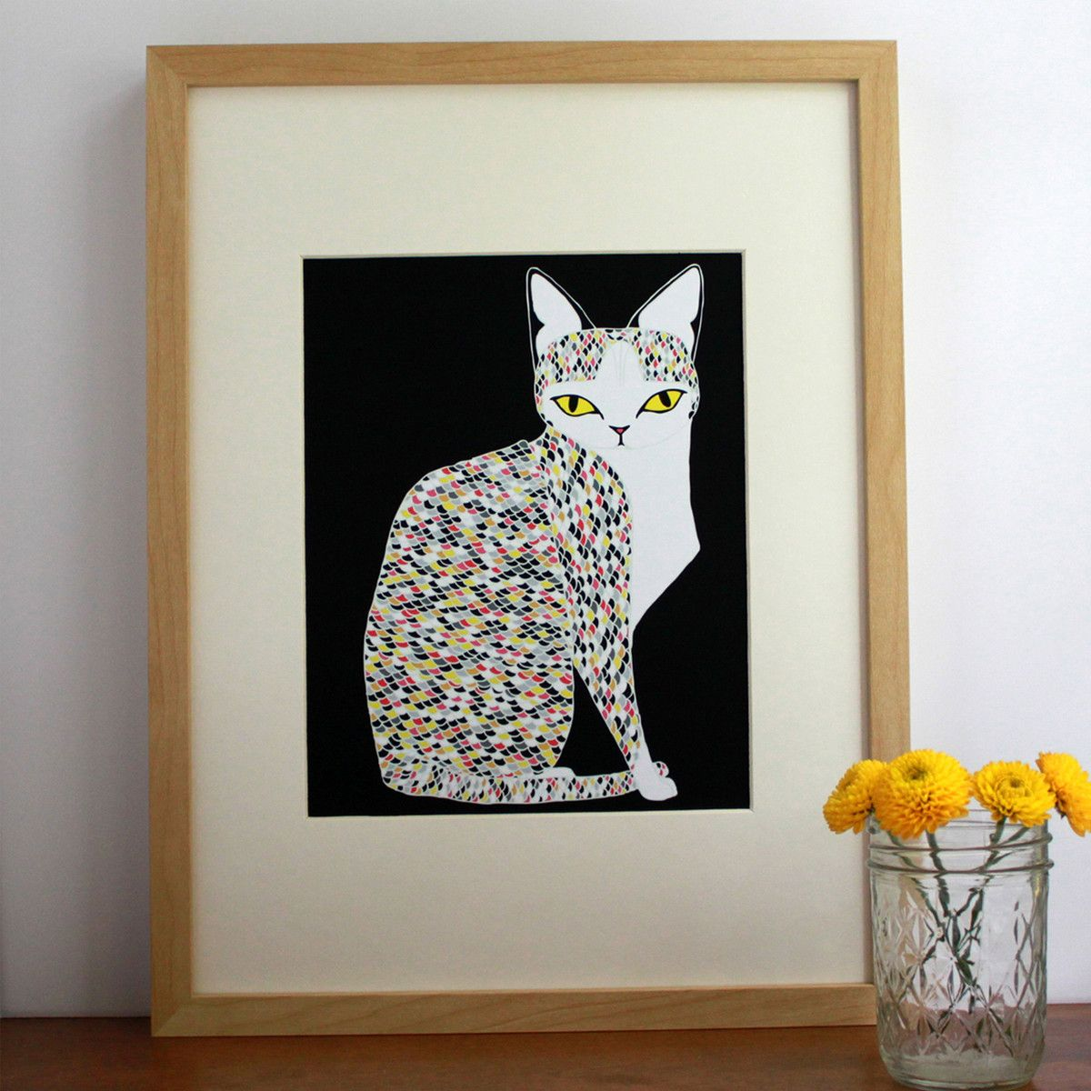 Love this Confetti Cat by Stacie Bloomfield
