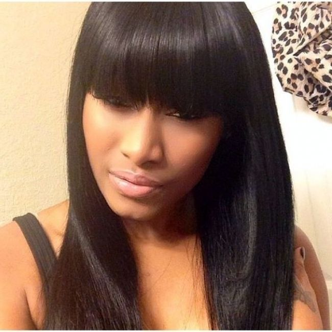 Weave hairstyles with chinese bangs