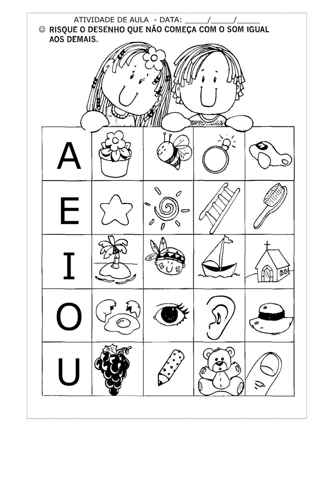 exercícios com vogais | Ideias atividades | Pinterest | Anlaute ...