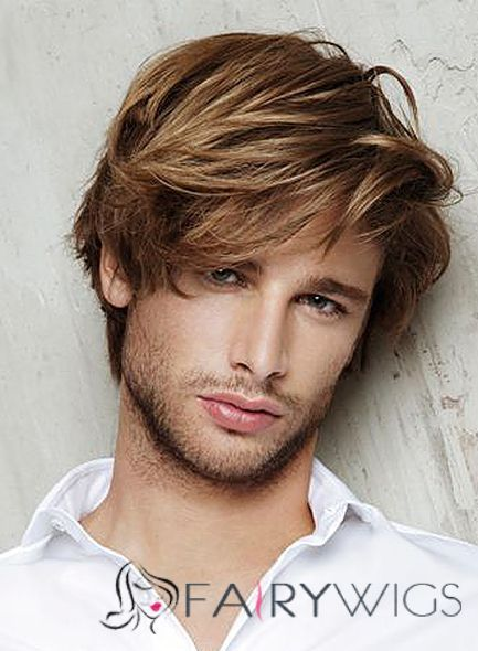 8 Inch Brown Capless 100 Indian Remy Hair Mens Wigs Haircuts For Men Mens Hairstyles Boy Hairstyles