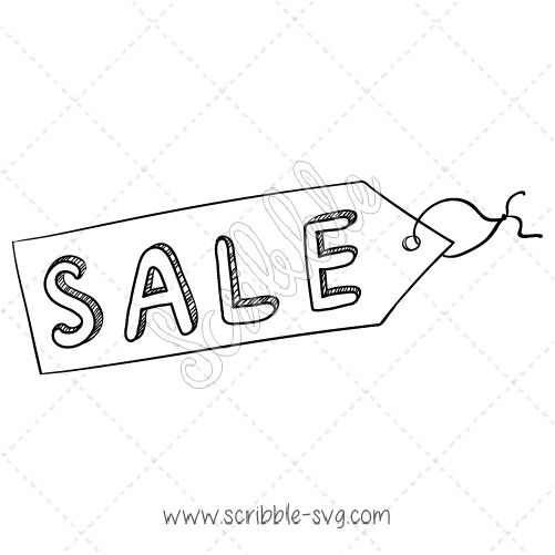 Free sales tag vector image for whiteboard animation