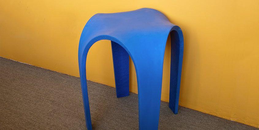 Make A Bent Concrete Table Concrete Table Concrete Furniture